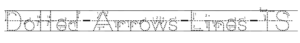 Dotted_Arrows_Lines_fonts for handwriting activity