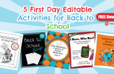 Back to School 1st Day Freebies