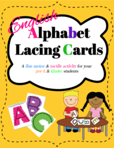 Fonts and activities - English ABC cards