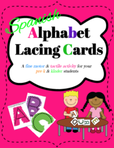 Fonts and activities - Spanish ABC cards