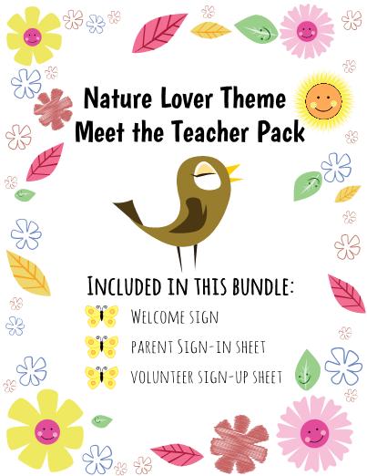 Nature Lover Meet the Teacher Freebie
