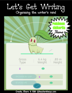 Pokemon writing for primary