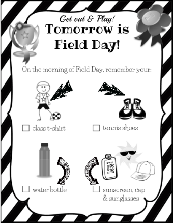 Field Day Checklist